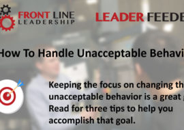 Leader Feeder – How To Handle Unacceptable Behavior