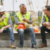 mix of older and younger blue collar workers